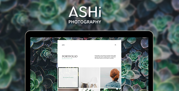 Ashi - Minimal Photography WordPress Theme