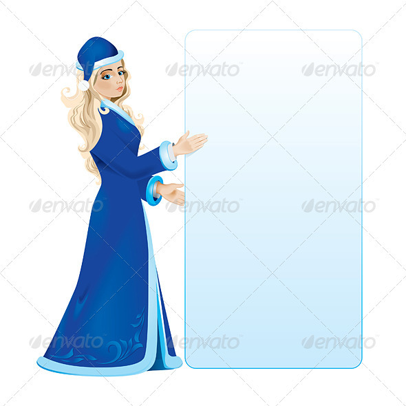 Graphic River Snow maiden Vectors -  Characters 1791463
