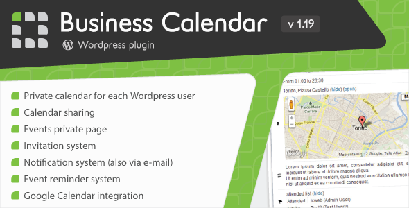 Business Calendar - WordPress Internal Calendar