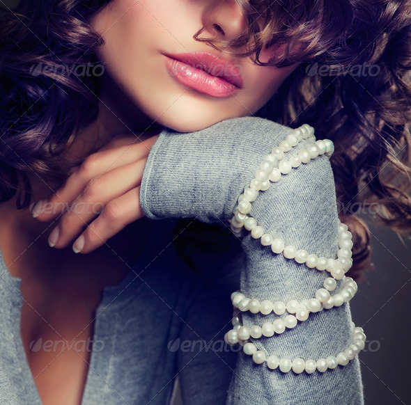 Fashion Beauty Portrait. Sexy Girl. - Stock Photo - Images