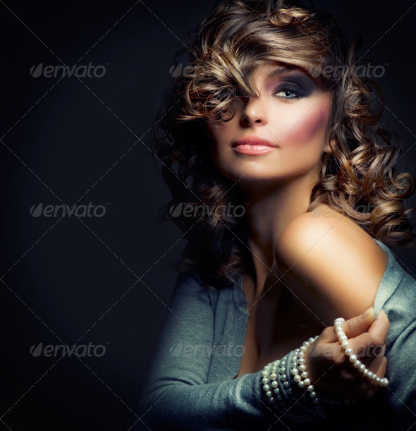 Beautiful Woman Portrait. Sexy Girl .Beauty model - Stock Photo - Images