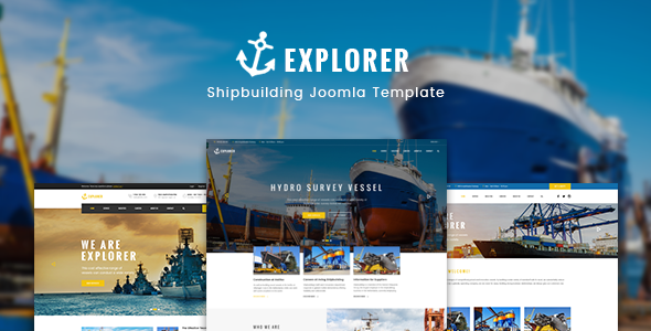 Explorer - Factory Construction & Ship Building WordPress Theme