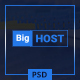 BigHost - Web Hosting Domain Technology PSD Template