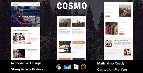 Cosmo – Multipurpose Responsive Email Template + Stampready Builder (Email Templates)