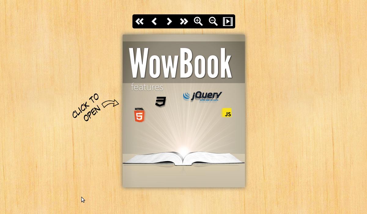 Wowbook jQuery plugin demo