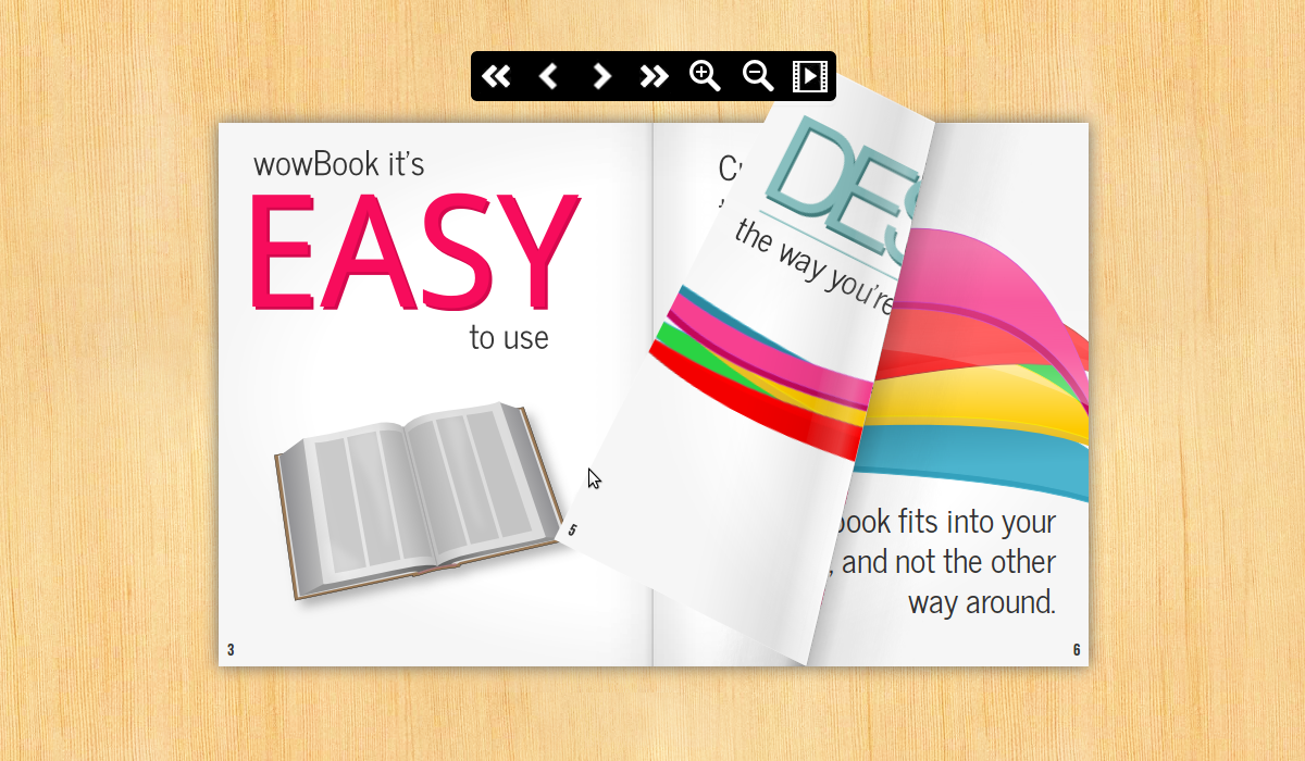 WowBook, create ebooks with page flip