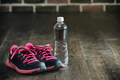 fitness running sports equipment, sneakers bottle water, healthy