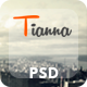 Tianna - One Page PSD Template