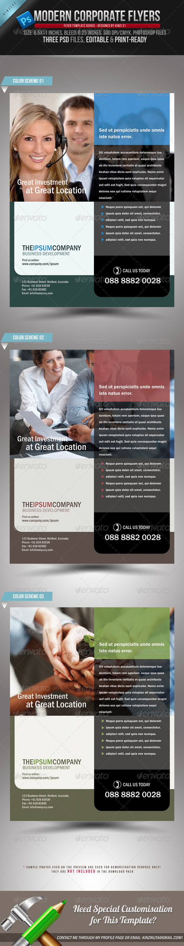 Modern Corporate Flyers - Corporate Flyers