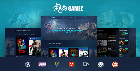 Download Gamez - Games, Movie, Music Review and Editorial WordPress Theme nulled download