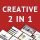 2 IN1 Creative PowerPoint Presentation Bundle