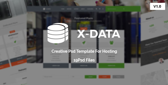X-DATA - WHMCS & Hosting PSD Template