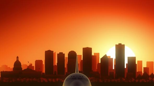 Download Edmonton Skyline Sunrise Take Off nulled download
