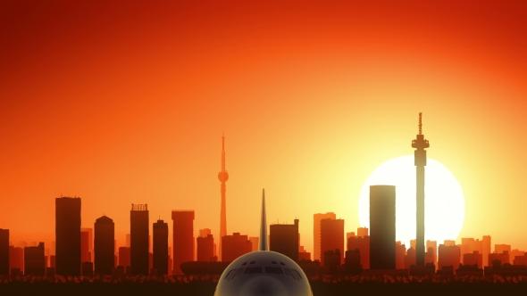 Download Johannesburg South Africa Skyline Sunrise Take Off nulled download