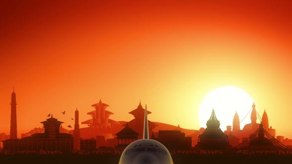 Download Kathmandu Skyline Sunrise Take Off nulled download