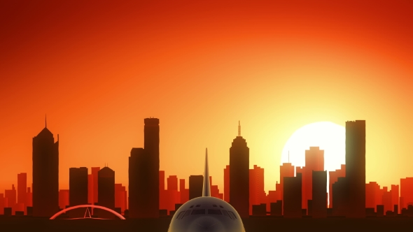 Download Melbourne Skyline Sunrise Take Off nulled download