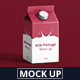 Juice / Milk Mockup - 500ml Carton Box