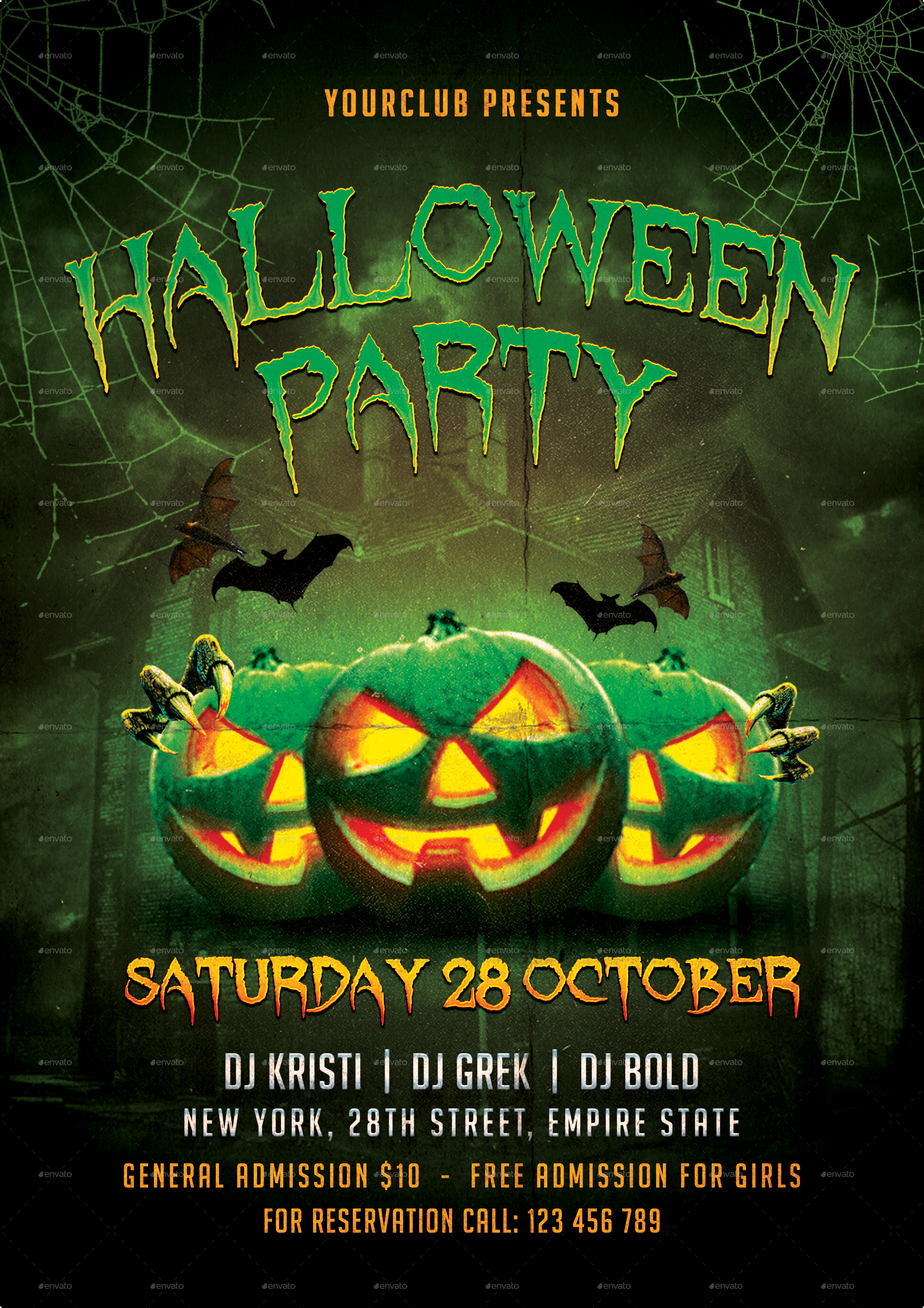HALLOWEEN PARTY FLYER by TotemDesigns – Halloween Party Flyer