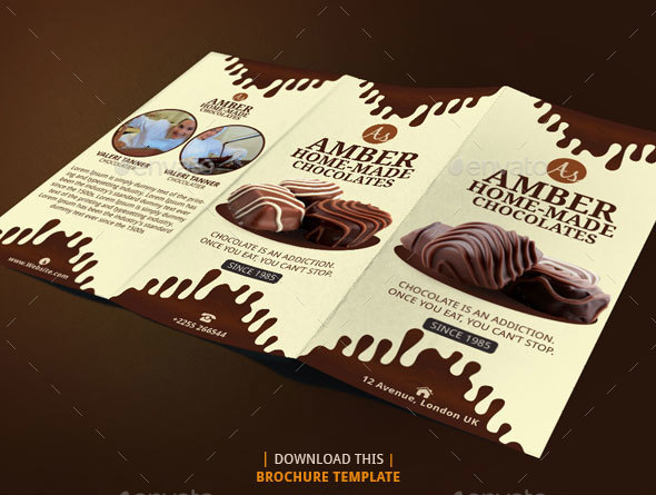 chocolate brochure design by blogankids