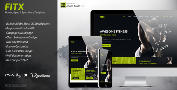 FitX - Fitness & Gym Muse Template