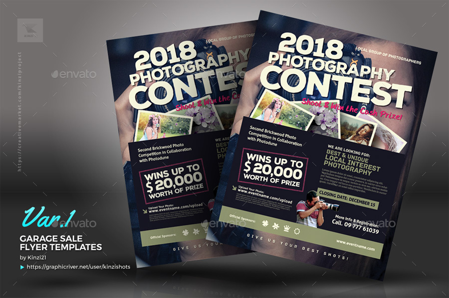 photo contest flyer templates by kinzishots graphicriver. Black Bedroom Furniture Sets. Home Design Ideas