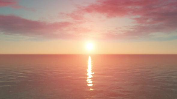 Download Gentle Sunset Over The Boundless Ocean nulled download