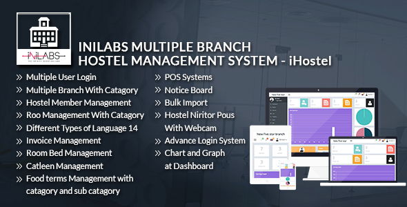 Download iHostel - iNiLabs Multi Branch Hostel Management System & POS nulled download