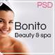 BONITO - beauty & spa Onepage PSD Template