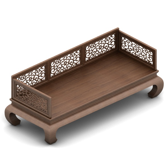 Chinese Bench - 3DOcean Item for Sale