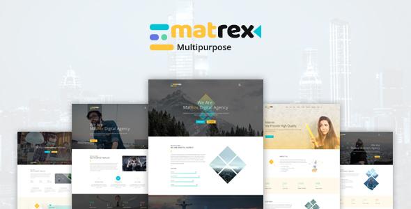 Matrex - Ultra Professional  PSD Template