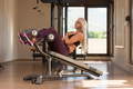 Fitness Woman Doing Abdominal Exercise