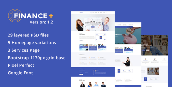 Finance + Business and Finance Corporate PSD Template