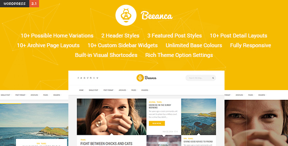 Beeanca - Modern Blogging Theme