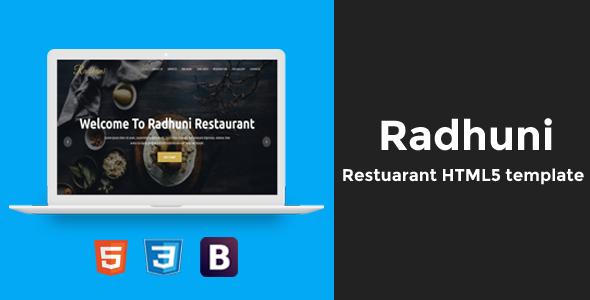 Radhuni - Restaurant HTML5 Template