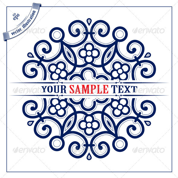 Circle Lace Pattern Background - Flourishes / Swirls Decorative