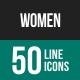 Women Line Icons-Graphicriver中文最全的素材分享平台