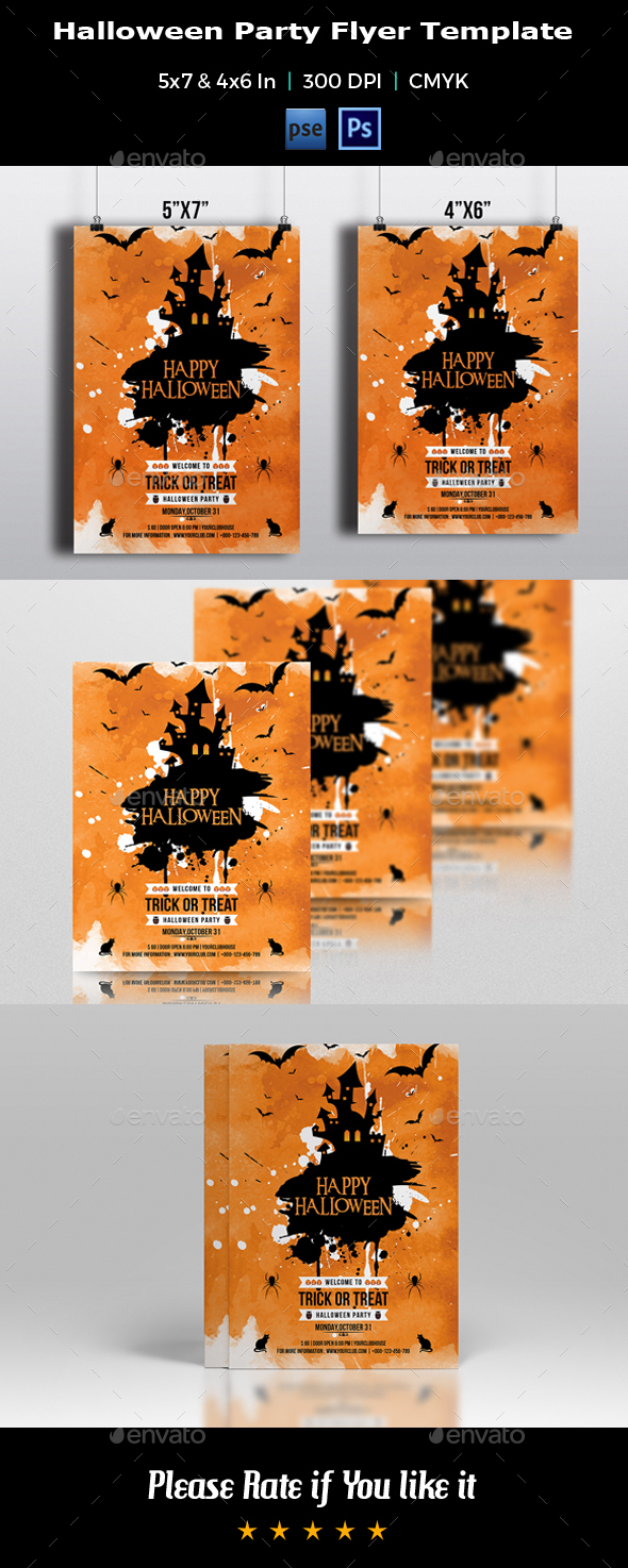 Halloween Party Flyer Template-V06