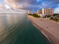 Aerial view of Miami South Beach with hotels and coastline