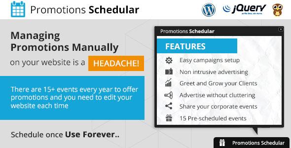 Promotions Scheduler - WordPress Plugin