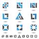 blue squares - GraphicRiver Item for Sale