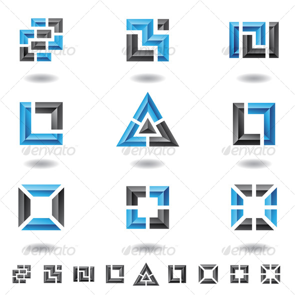 GraphicRiver blue squares 70075