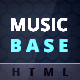 MusicBase - Band Artist Radio HTML Template