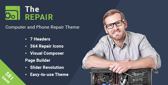 Download The Repair - Computer, Mobile and Electronics Repair WordPress Theme nulled download