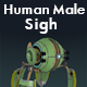 Human Male Sighing