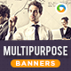 HTML5 Multi Purpose Banners - GWD - 7 Sizes(NF-CC-144)