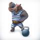 Hippo Circus Athlete