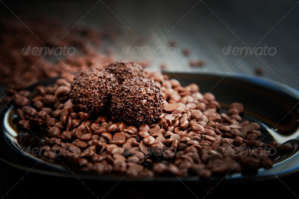 Chocolate balls - Stock Photo - Images