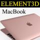 Element3D - Apple Macbook 2015