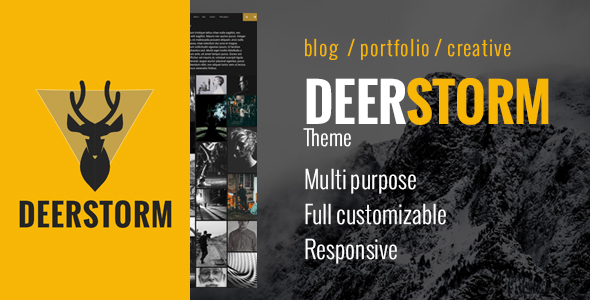 Deerstorm - Fully Customizable Responsive Timeline Blog & Portfolio Theme