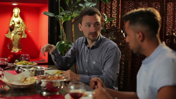 Download Two Men Dining At The Restaurant nulled download